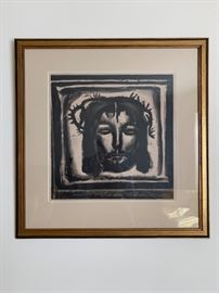 Georges Rouault, Etching Aquatint, c 1922 from the Meserere series