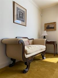 Victorian Settee with Paw Foot