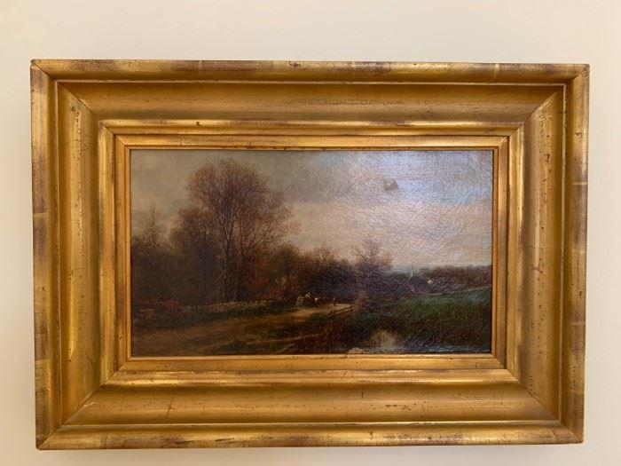 James McDougal Hart, Oil on Canvas, 10 x 18