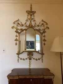 Hollywood Regency Gilt Mirrors, PAIR