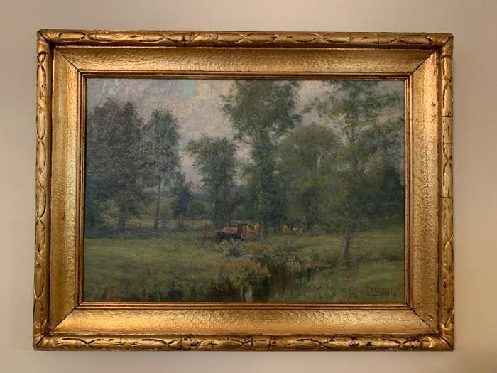 Olive Parker Black, Oil on Canvas, 14 x 20