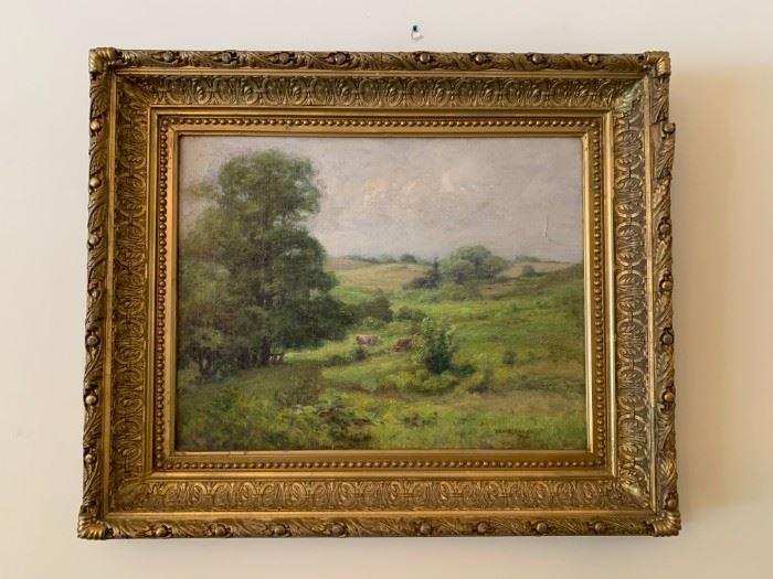 Bruce Crane, Oil on Canvas, 18 x 13.5