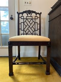 Set of TEN Chinese Chippendale Dining Chairs from Irving and Casson