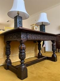 Spanish Style Heavily Carved Sideboard