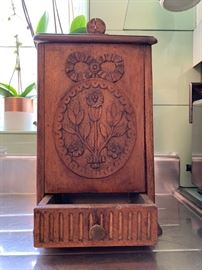 Antique Tin Lined Wall Box