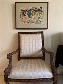 Carved Frame Armchair
