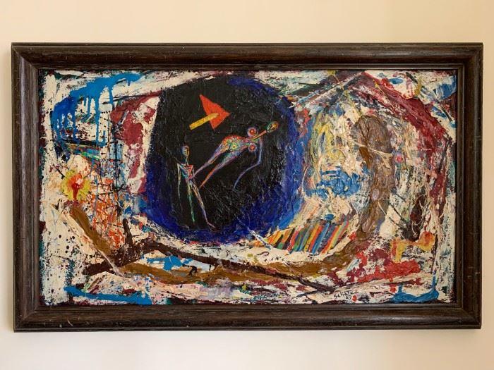 Bezalel Schatz, Acrylic on Canvas