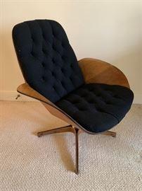 Muthauser for Plycraft Teak Swivel Arm Chair