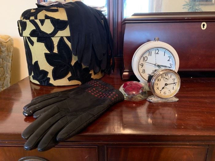 Leather Gloves, Vintage Westclox, Jewelry Boxes