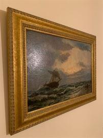 James Hamilton, Oil on Canvas, 11 x 16
