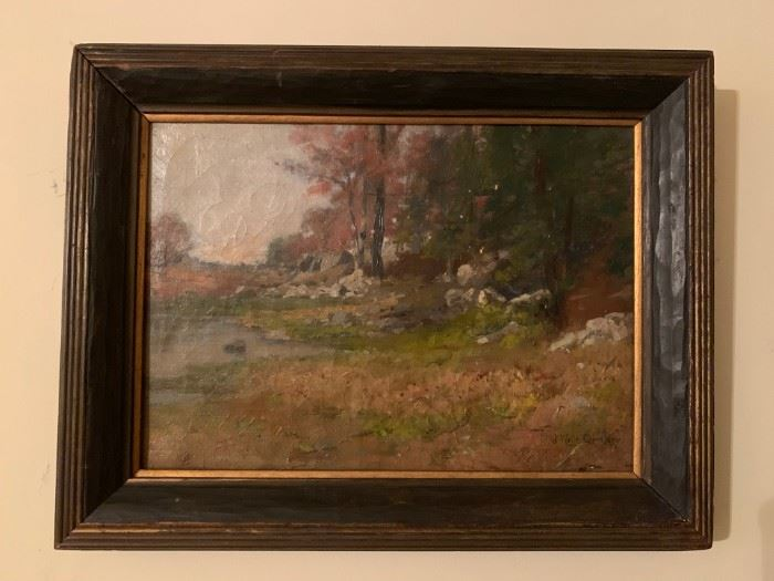 James Wells Champney, Oil on Canvas, 14 x 10