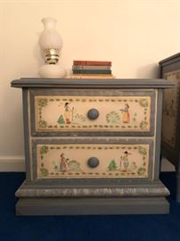 Quimper France Style Hand Painted Chest