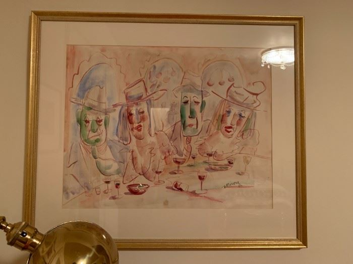 Captain Joe Miron, Local Celebrity, Watercolor