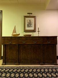 Crotch Mahogany Sideboard