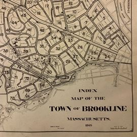 1945 Town of Brookline Atlas, 25 TWO PAGE Maps
