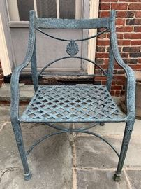 Detail Woodard Cast Iron Patio Set, Cushions Available (not shown)
