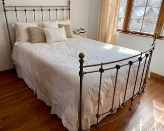 15. Queen Size Wrought Iron Bed