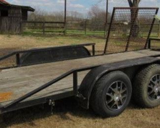 16' Utility Trailer w/Side Ramp