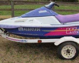Yamaha Wave Runner w/Trailer