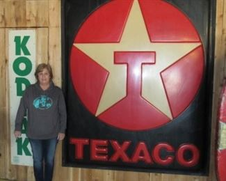 1 of 2 Plastic 7' Tall Texaco Signs