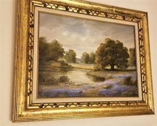 One of two landscapes by listed artist John Reed Campbell.