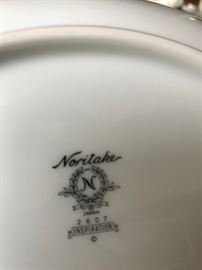 #62 Noritake Inspiration 16 (5 piece place settings) w serving pieces  $160.00