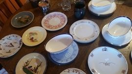 Western ware dishes by Wallace, Vernon Kilns, Mexican pottery, Lenox dishes