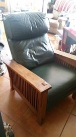 Mission Stickley leather recliner
