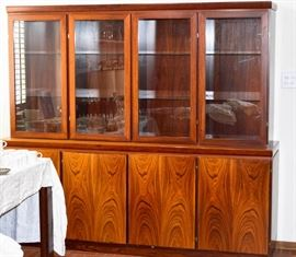 Cabinet with glass doors ROSEWOOD