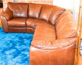 Couch leather brown