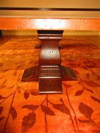 Detail of arhaus dining table