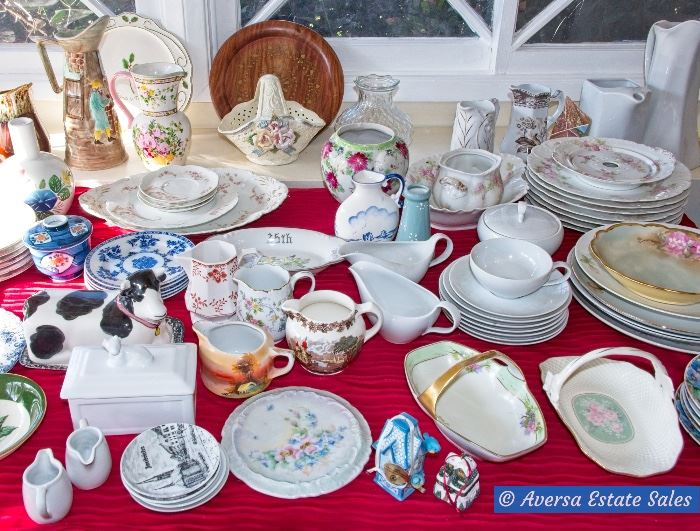 Tables of Porcelain Collectibles