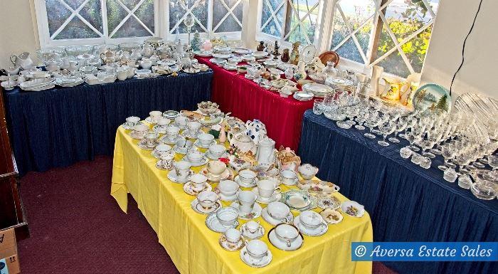 Tables FULL of Ceramic - Porcelain - Glassware - Crystal