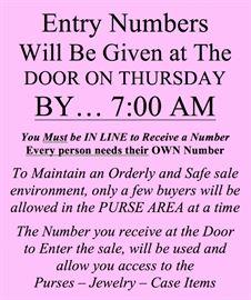 numbers at the door