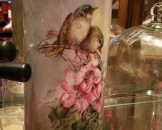 large hand painted porcelain vase, European c1910