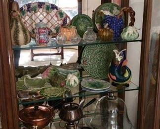 beautiful decanters and a great selection of contemporary Majolica from Portugal and Italy