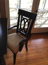 #1Dark Finish Table w/1 leaf & 6 Chairs    70-88x42x30 $375.00