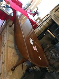 #8oval drop side Coffee Table  5ftx34x18 $65.00