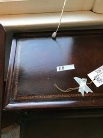 #9Step leather top End Table 21x26x25 (2) @ 75 ea $150.00