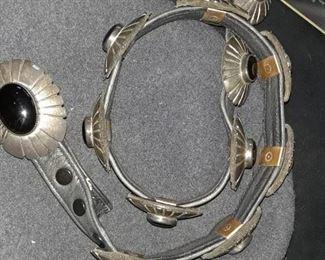 Sterling silver conco belt