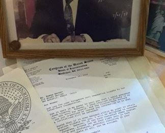 Inaugural letter from Henry B. Gonzalez