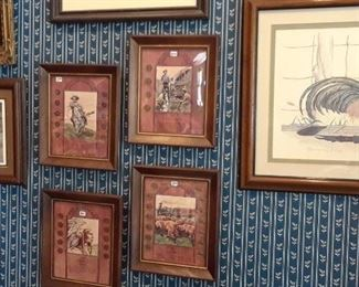 Coin collections and art featuring roosters