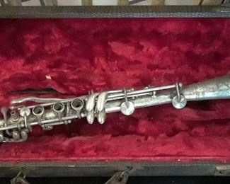 Sterling silver clarinet