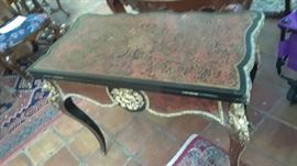 Boulle game table