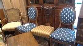 Examples of various style of chairs available.