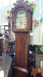 Tall case clock by G. J Bates, Ludham.