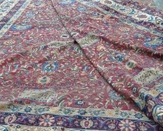 Palace size antique Persian rug is 18' x 36' signed