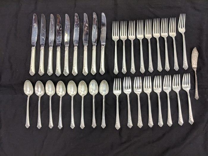 Sterling silver silverware flatware set
