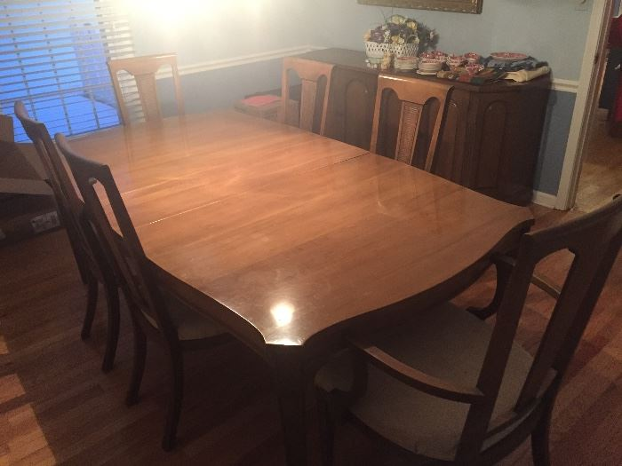 Dining room table and chairs $300