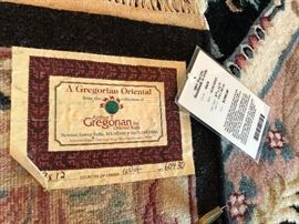 9X12 Gregorian Oriental area rug